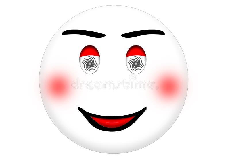 hypnotized smiley royaltyfria bilder
