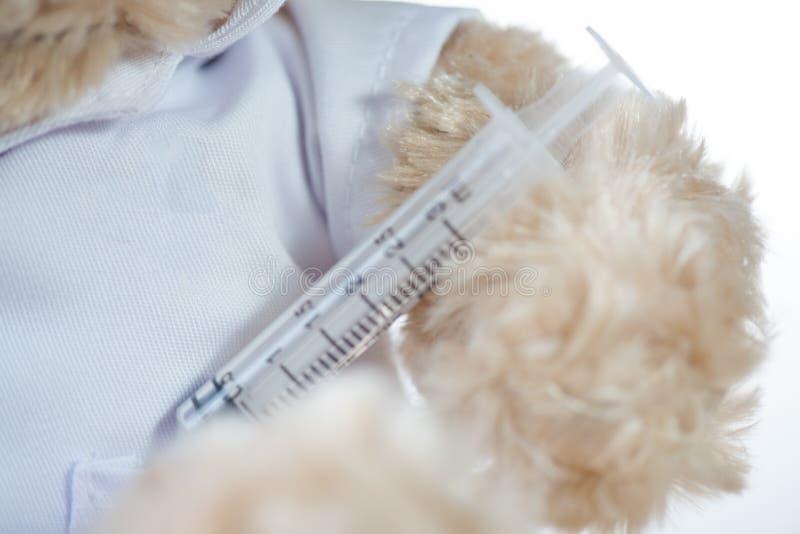 Hypodermic needleinjection needle on white background royalty free stock image