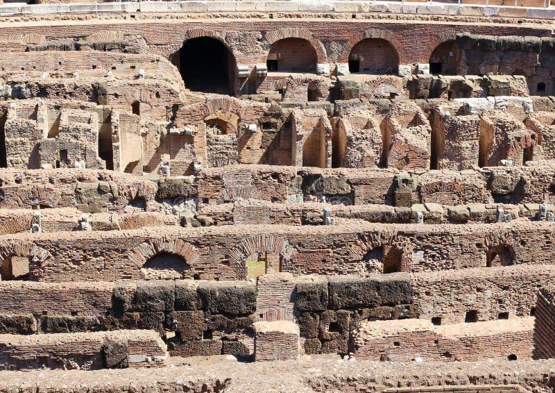 Hypogeum dans les détails, Colosseum, Rome images libres de droits