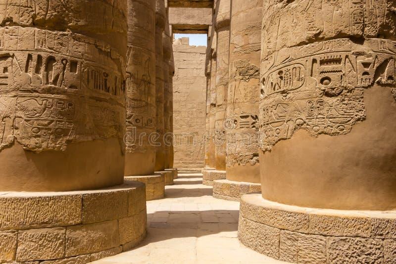 Hypostyle Hall на Karnak в Египте стоковое фото