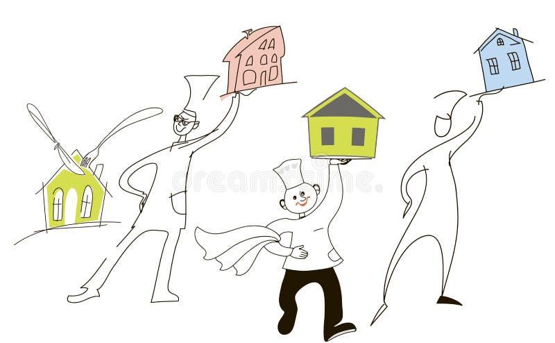 Hypothèque illustration de vecteur