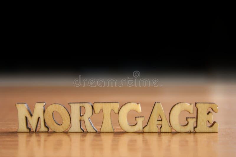 Hypothèque de Word photographie stock libre de droits