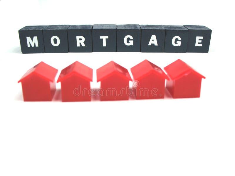 Hypothèque et maisons photographie stock libre de droits