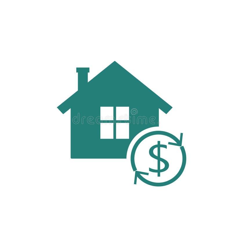 Hypothèque inverse à la maison illustration de vecteur