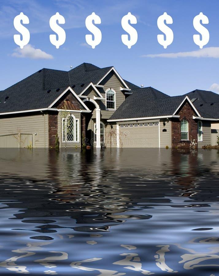 Hypothèque - se noyant dans la dette illustration stock
