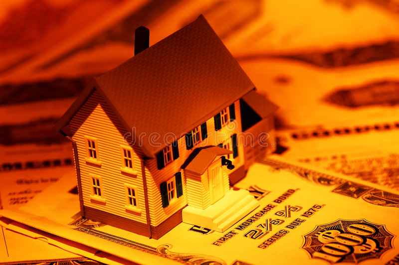 Hypotheek stock foto