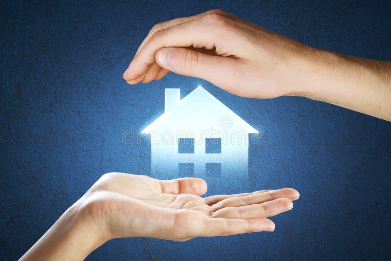 Hypotheek en slim huisconcept stock foto