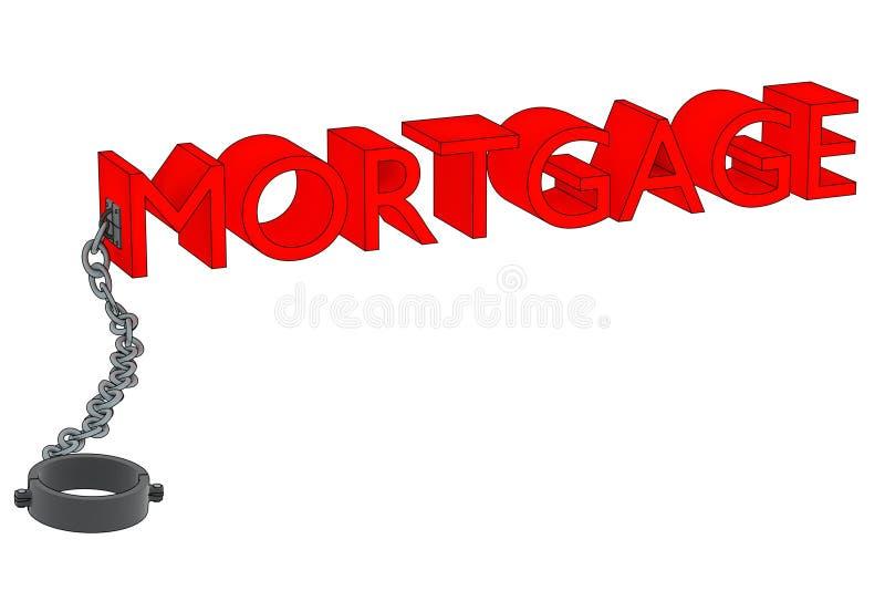 Hypothek und Kette stockfotos