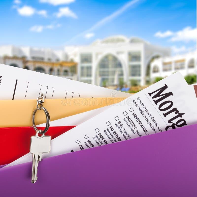 Hypotheken-Dokumente stockfoto