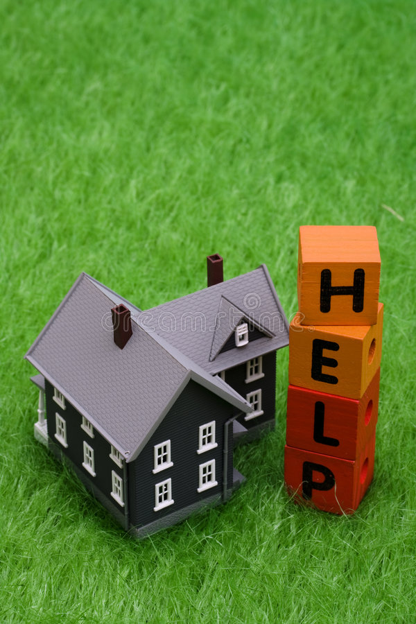 Hypotheken-Hilfe lizenzfreies stockbild