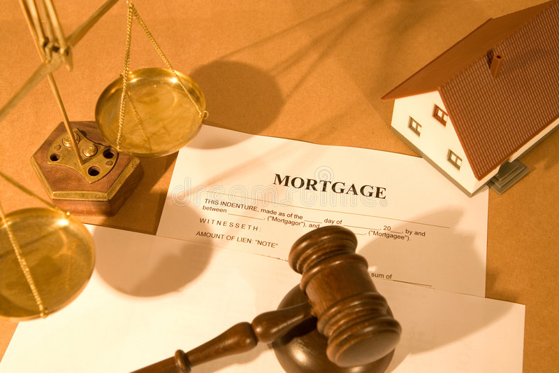 Hypothekendokument lizenzfreies stockfoto