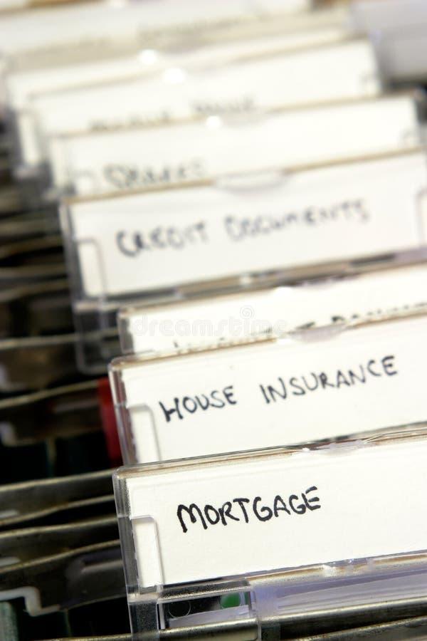 Hypothekendokumente stockbilder