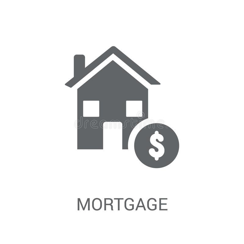Hypothekenikone  lizenzfreie abbildung