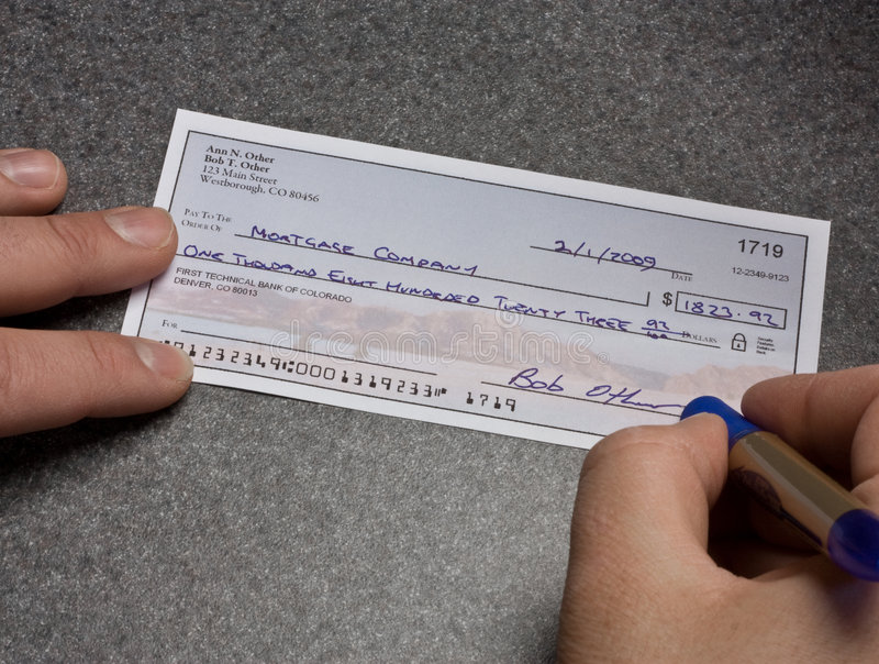 Hypothekenzahlung lizenzfreies stockfoto