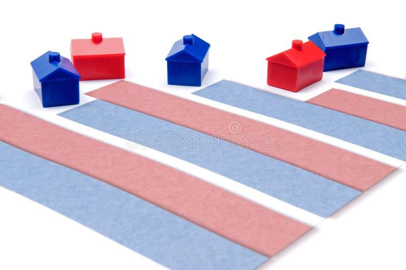 Hypothekenzinssätze stockfoto