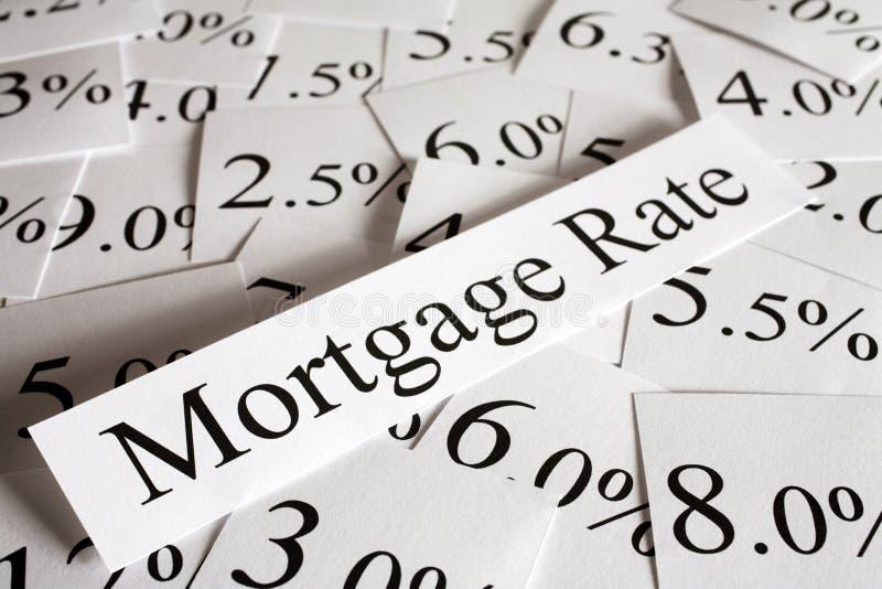 Hypothekenzinssatz-Konzept stockfoto