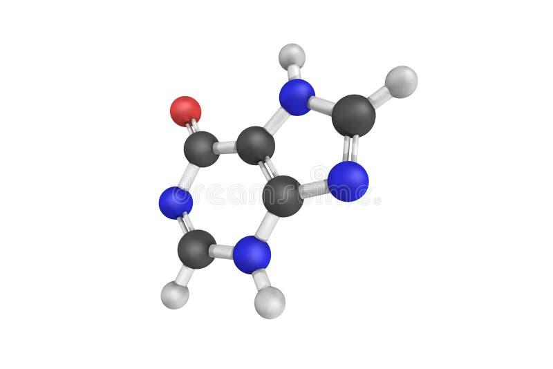 Hypoxanthine, généralement un réactif requis en Cu de parasite de malaria images libres de droits