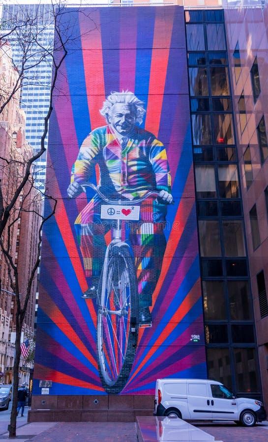 Hyra till Einstein i New York royaltyfria foton