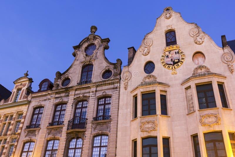 Hyreshusar i Mechelen i Belgien arkivbilder