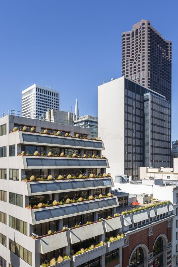 Hyreshusar San Francisco, Kalifornien, Amerikas förenta stater, USA royaltyfria bilder