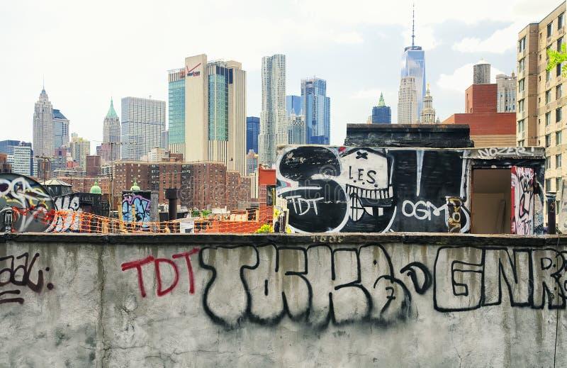 hyreshusstad New York arkivbild