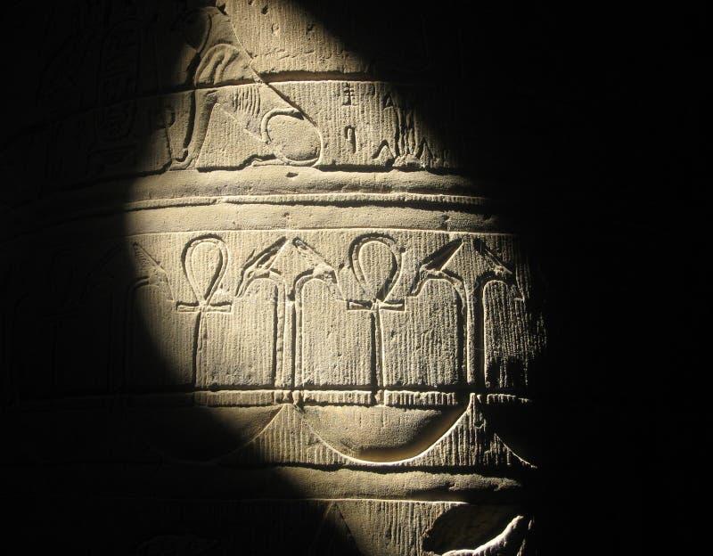 Hyroglifics in Egypte royalty-vrije stock fotografie