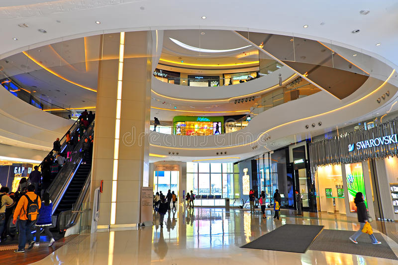 Hysan förlägger shoppinggallerien, Hong Kong royaltyfri foto
