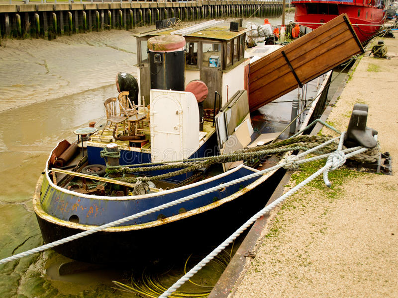 Hythe Quay, Colchester stockbilder