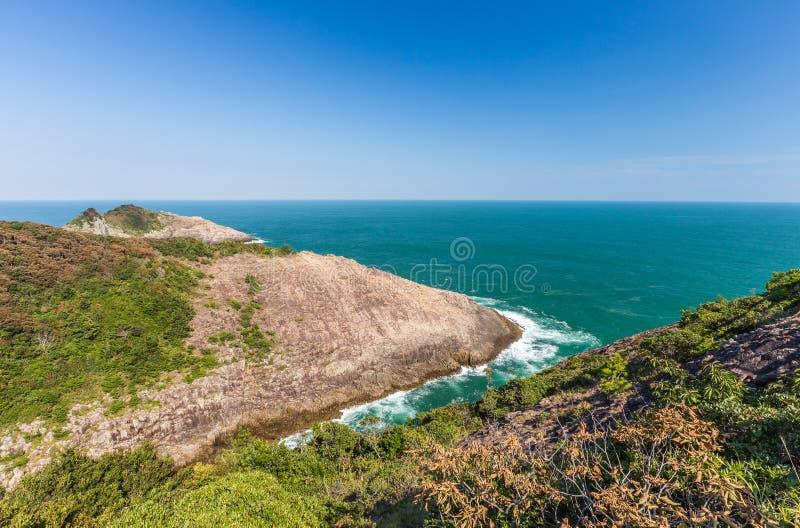 Hyuga海角美好的海岸线在宫崎,九州 库存图片