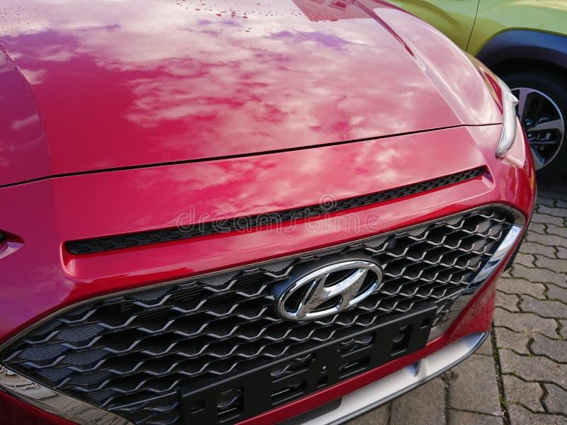 Hyundai bil fotografering för bildbyråer