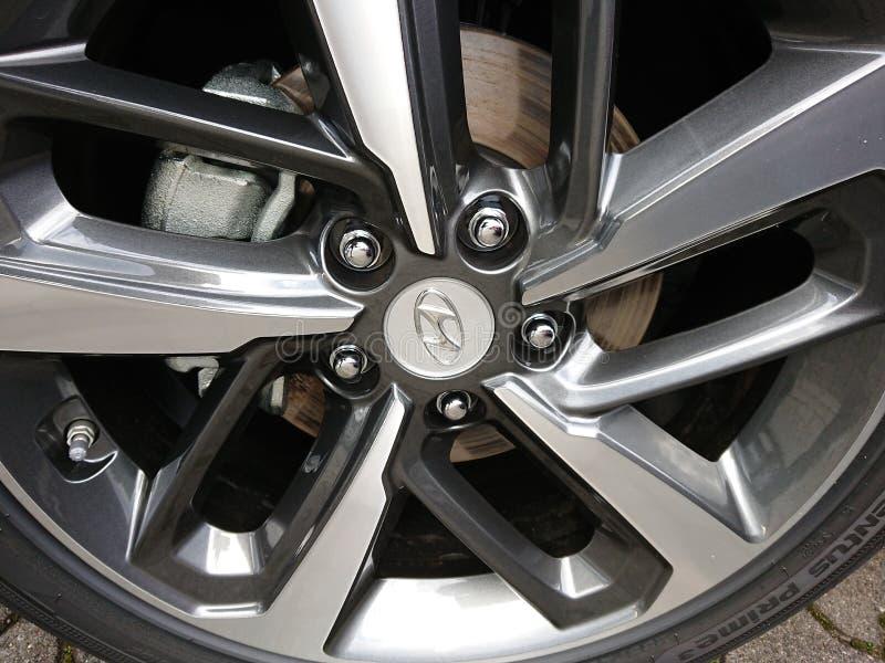 Hyundai bil royaltyfria foton