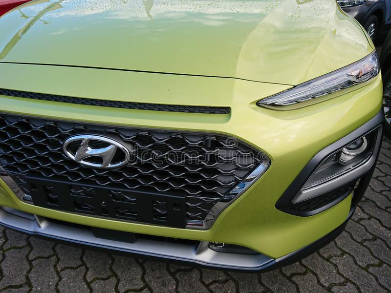 Hyundai car royalty free stock photo