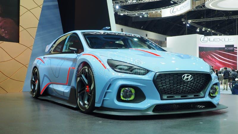 Hyundai destaca el coche del prototipo RN30 en la 34ta expo 2017 del motor foto de archivo