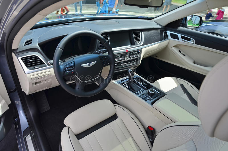 Download Hyundai Genesis Interior Editorial Stock Photo. Image Of June    41830823