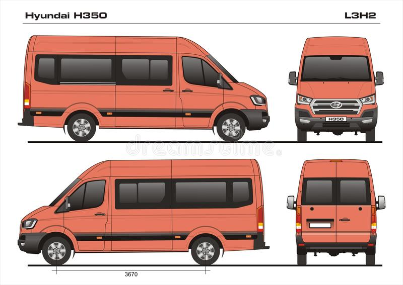 hyundai h350 l3h2 2017 passenger van editorial image illustration of delivery draw 108473960. Black Bedroom Furniture Sets. Home Design Ideas