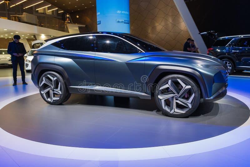 Hyundai HDC-7 on display during Los Angeles Auto Show stock photos