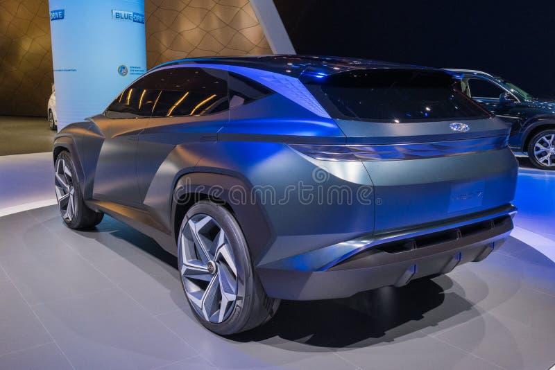 Hyundai HDC-7 on display during Los Angeles Auto Show royalty free stock photo