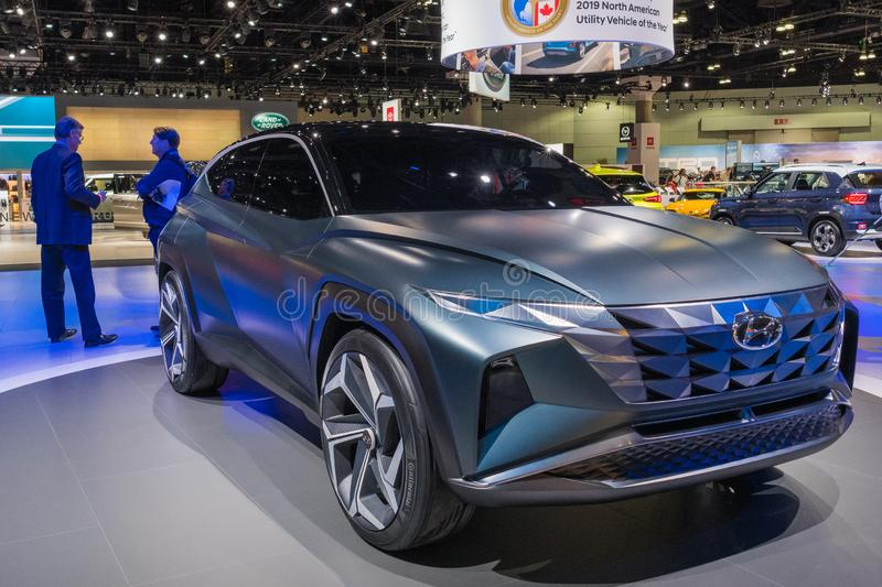 Hyundai HDC-7 on display during Los Angeles Auto Show royalty free stock image