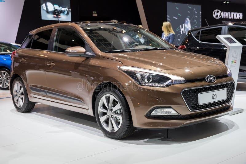 Hyundai i20 bil fotografering för bildbyråer