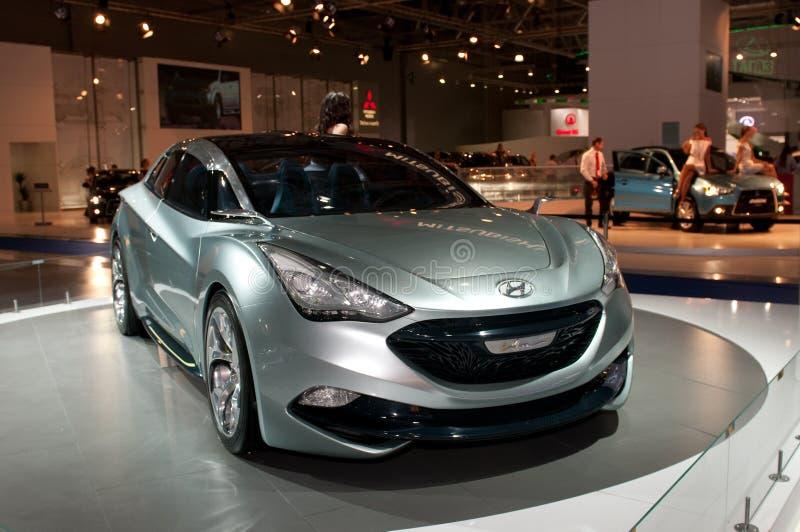 Hyundai io-Scorre automobile di concetto immagine stock libera da diritti