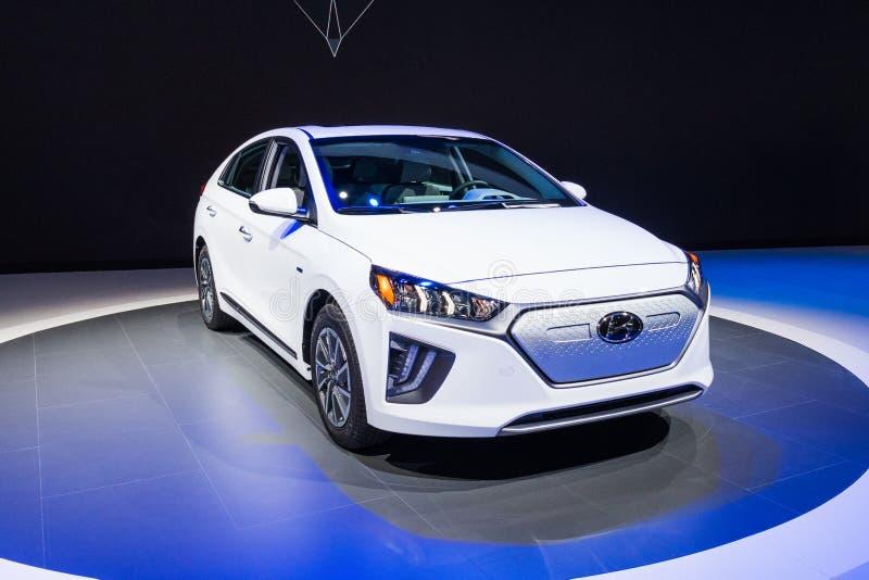Hyundai Ioniq electric on display during Los Angeles Auto Show stock photos