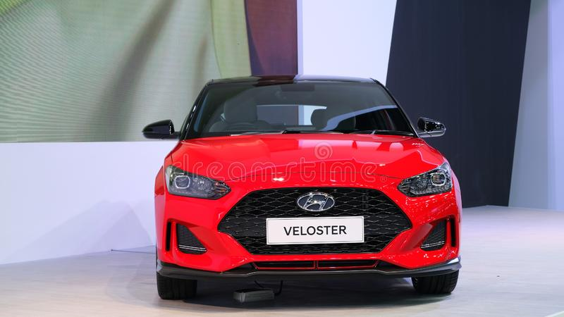 Hyundai Motor Thailand display the new Veloster Turbo royalty free stock photography