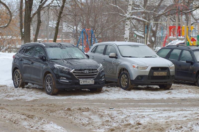 Hyundai Tucson e Mitsubishi ASX foto de stock royalty free