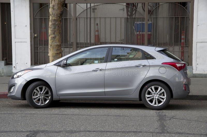Hyundai-vijfdeursauto nieuwe auto stock foto's