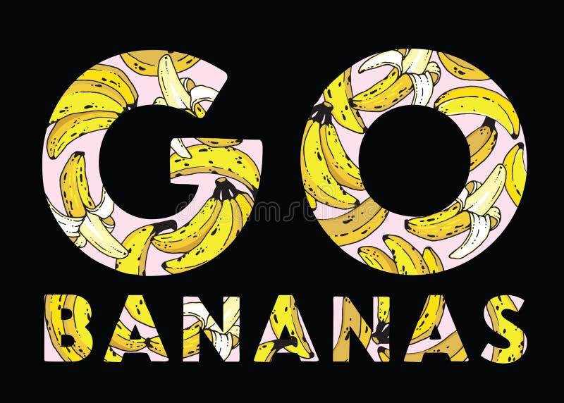 Iść banany! royalty ilustracja