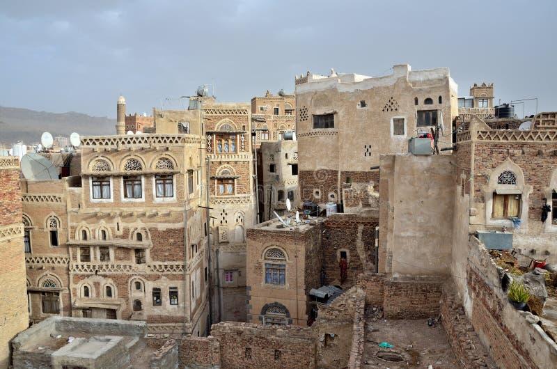 Iémen, centro histórico de Sana'a fotos de stock royalty free