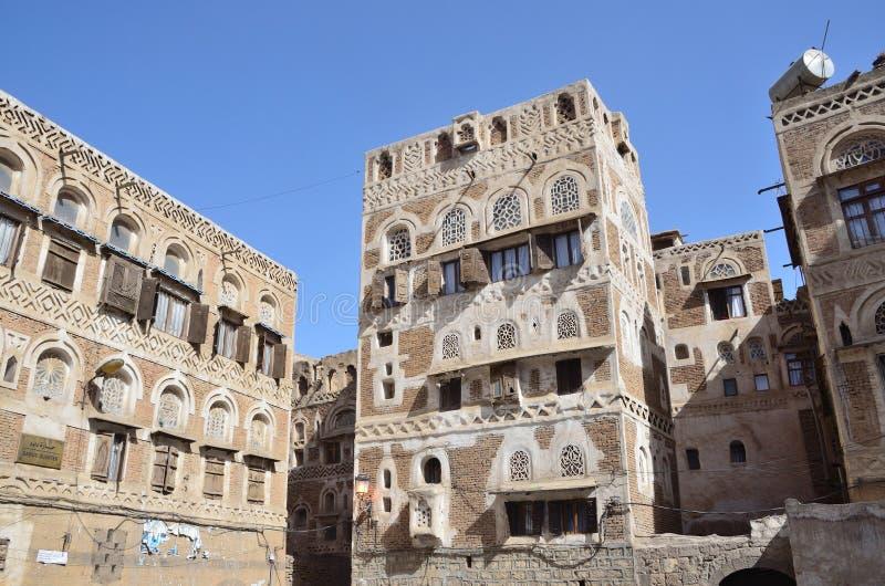 Iémen, centro histórico de Sana'a fotos de stock