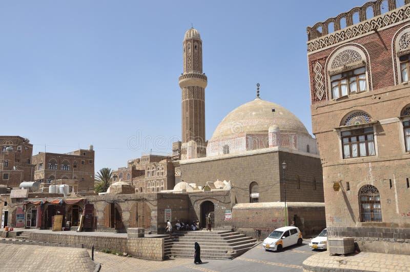 Iémen, centro histórico de Sana'a fotografia de stock