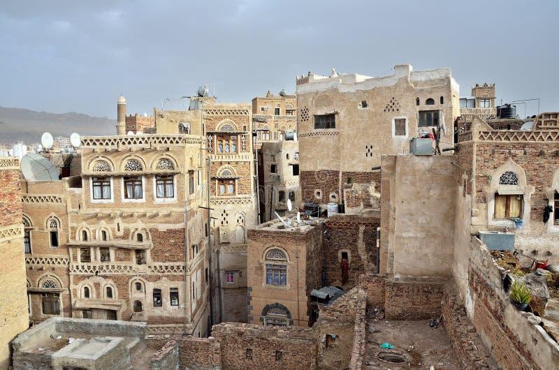 Iémen, centro histórico de Sana'a imagem de stock