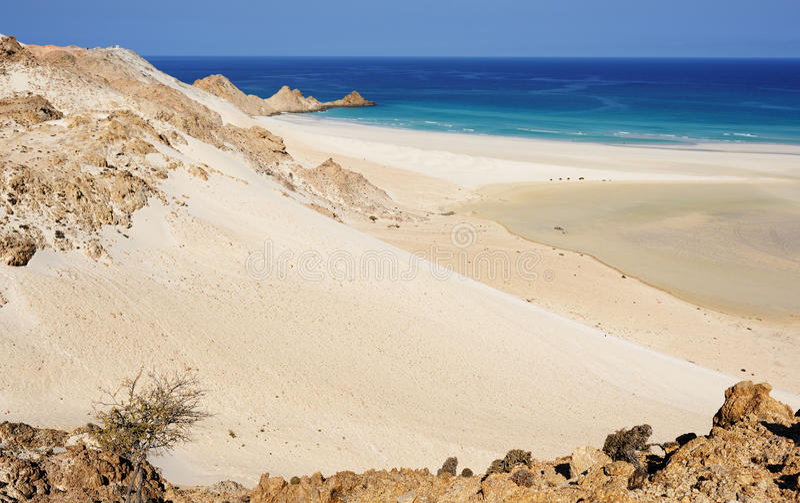 Iémen. Ilha de Socotra. Lagoa de Detwah fotos de stock
